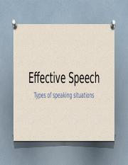 Effective Speech - Chapter 9 through 12