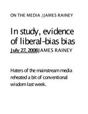 Humanities 161_Barry_Lecture Notes on Liberal-Bias Bias