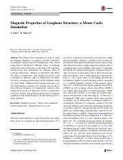 Jabar, Masrour - 2016 - Magnetic Properties of Graphene Structure a Monte Carlo Simulation.pdf