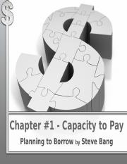 Chapter 1 Capacity to Pay(1)