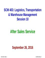 10 Sep 26 Class SCM 403 (After Sales)