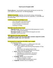 MKt Final Exam Study Guide