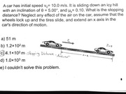 The Stopping Distance - Practice Problem & Answer