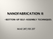 Nano Science (Lec4  Bottom-up Nanofabrication)