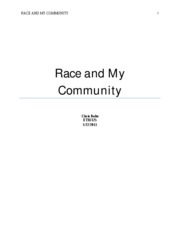 Race and My Community