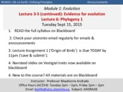 Lec 6-Sept 15 Evidence -Phylogeny _POST