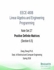 Note_Set_27 - Positive Definite Matrices