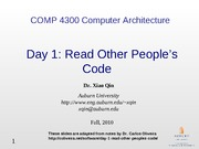 Day 1 Read Other People's Code