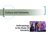 Lecture - Culture and Humanity