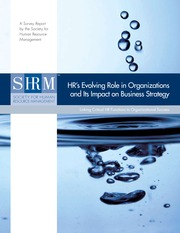 hr's evolving role in organizations