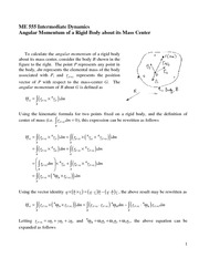 Angular Momentum of a Rigid Body about its Mass Center Review