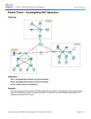 11.1.2.6 Packet Tracer - Investigating NAT Operation Instructions