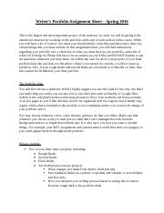 Writers Portfolio Assignment Sheet (1).docx