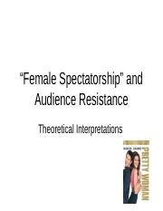 Female Spectatorship and Audience Resistance (1)