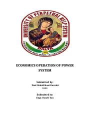 ECONOMICS OPERATION OF POWER SYSTEM