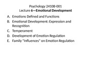 Lecture 6 2015 Emotional Development for posting