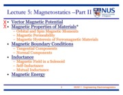 EE2011 Lecture 5 - Magnetostatics Part II