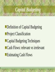 capitalbudgeting