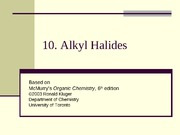 Chapter10- Alkyl Halides