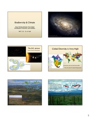 Lecture Slides on Biodiversity and Climate