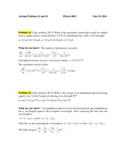 PROBLEM 41 & 42 May 18 2010
