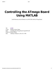 5_Controlling the ATMEGA with Matlab