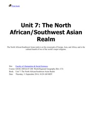 Unit 7-The North African:Southwest Asian Realm