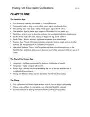History 120 East Asian Civilizations Notes