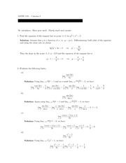 Math 1131Q Midterm Exam 2 and Solutions