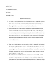 Writing Assignment Chapter 9