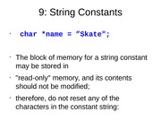 String Constants
