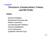 Ch. 12: Structures, Enumerations, Unions, and Bit Fields
