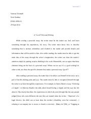 Essay2_A Good Personal Writing