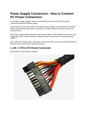 Power Supply Connectors.docx