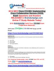 (2018-1-9)Braindump2go New 210-060 Dumps With PDF and VCE 254Q&As Free Share(Q226-Q236).pdf