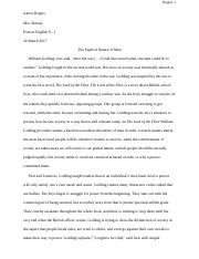 The Lord of the Flies - Final Draft - Aaron Rogers.docx