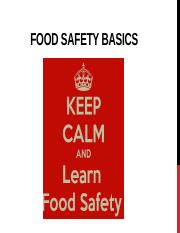Food Safety Basics [Autosaved] - FOOD SAFETY BASICS AFTER