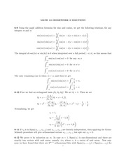 Math 110 Homework 9 Solutions