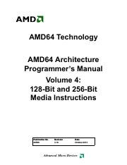 AMD64 Architecture Programmer's Manual - Volume 4 - 128-Bit and 256-Bit Media Instructions (26568, r