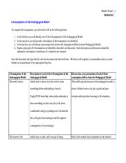 Handout 4 - Assumptions of the Andragogical Model