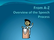 2011 A to Z Overview of Speech Student Version