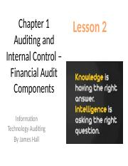 Chap01 Auditing and Internal Control – MWF Lesson 2.pptx
