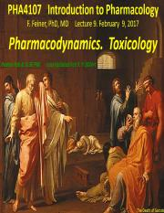 Pharmacodynamics. Toxicology SLIDES(1)