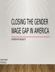 The Current Gender Wage Gap in America