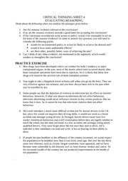 CRITICAL THINKING SHEET 4