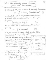 Physics 365_Class Notes on Non-Interacting Ground State and Particle-Hole Transformation