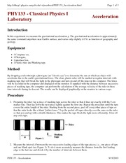 Lab 2 Acceleration