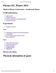 Physics 431_ Physical adsorption