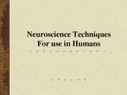 Lecture 6 Human Methods I