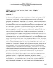 Global Sourcing and International Buyer, 201207998